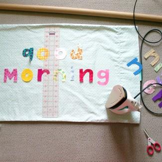 """""""Good Morning"""" """"Night Night"""" pillow"""