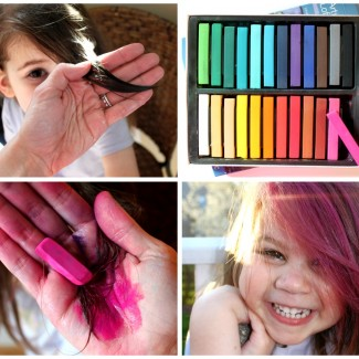 How to dye hair with chalk (pastels)