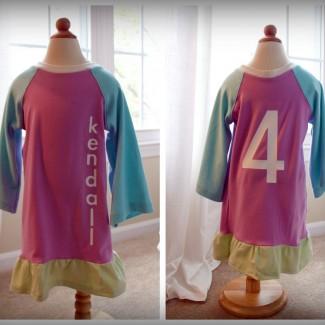 Personalized Birthday Girl Dress