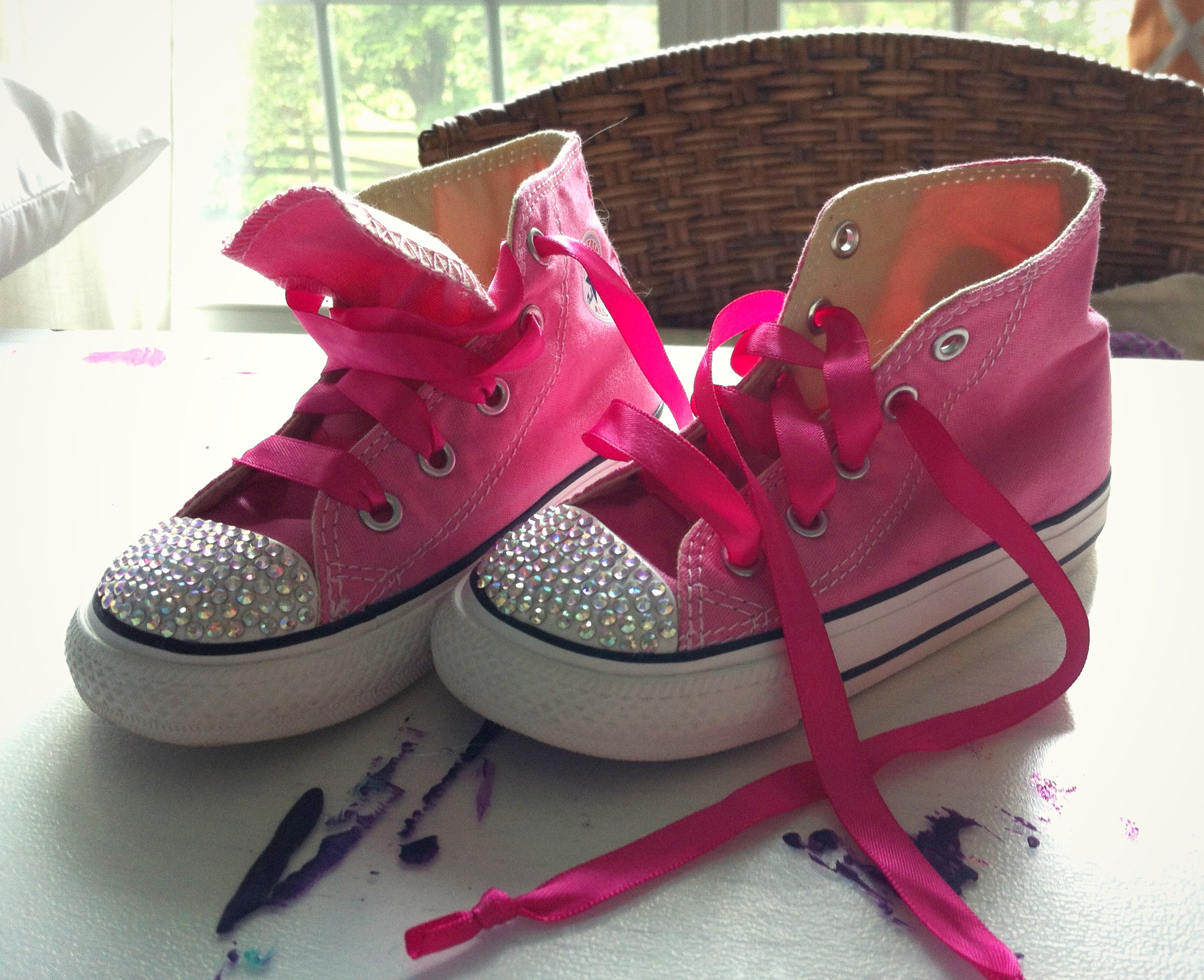 69d47f1fd6a5 Blinged Out Chucks