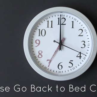 """""""Please go back to bed"""" clock"""