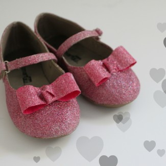 DIY Princess Aurora Glitter Shoes