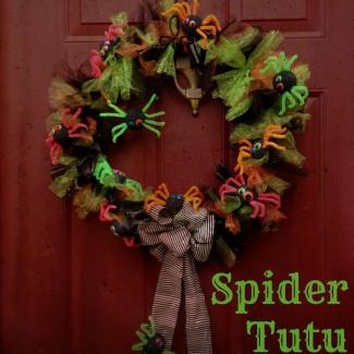 Spider Tutu Wreath: A Halloween Kid Friendly Craft