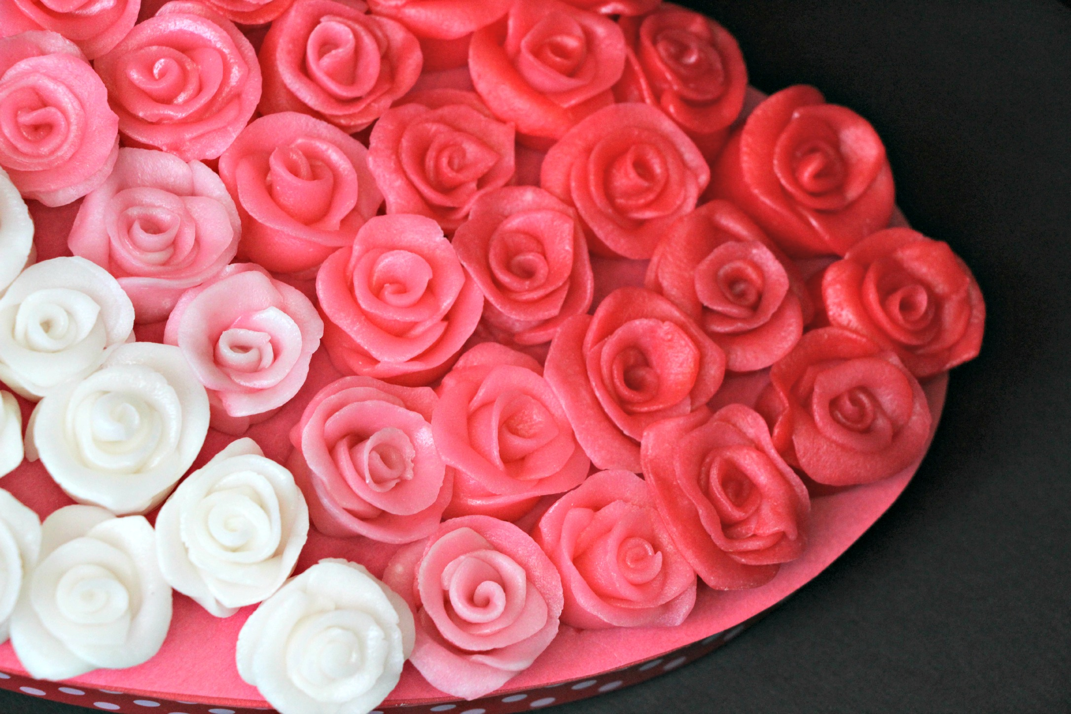 Ombre pink roses valentines box made from Airheads candy!