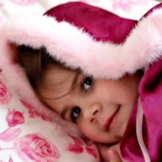 Princess Fur Trimmed Pink Velvet Cape