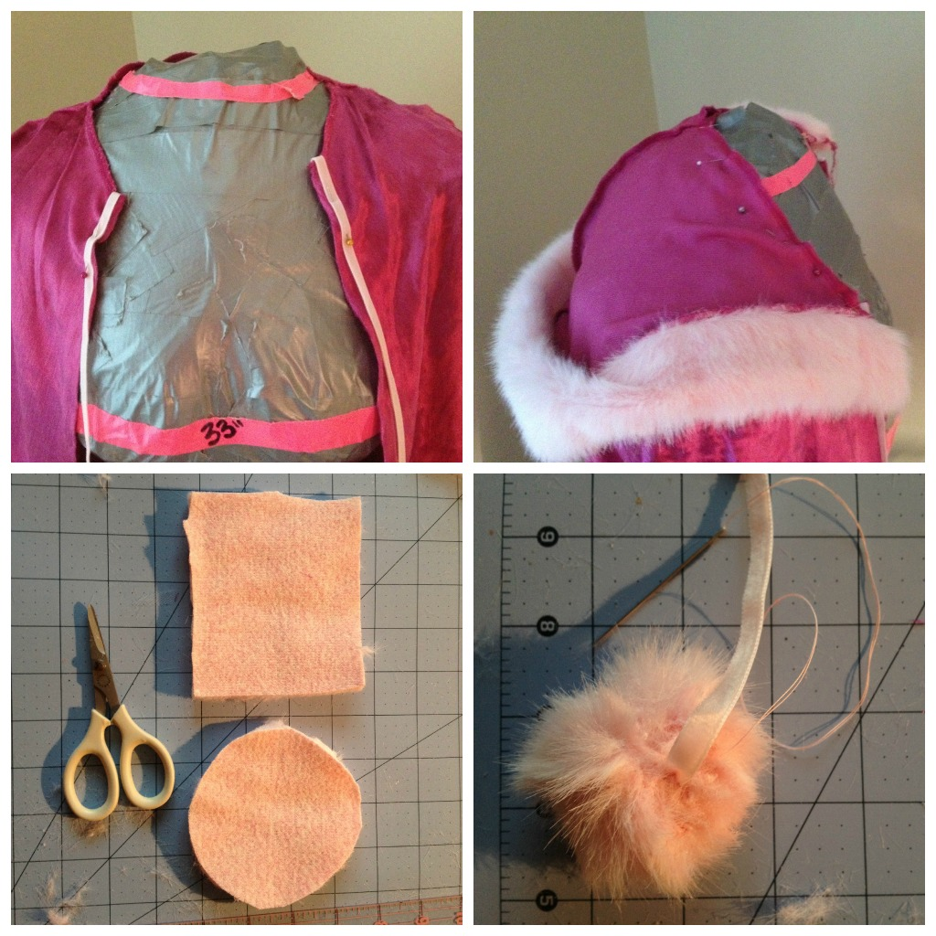 fur trimmed pink velvet cape for your little princess:: Little Pink Monster