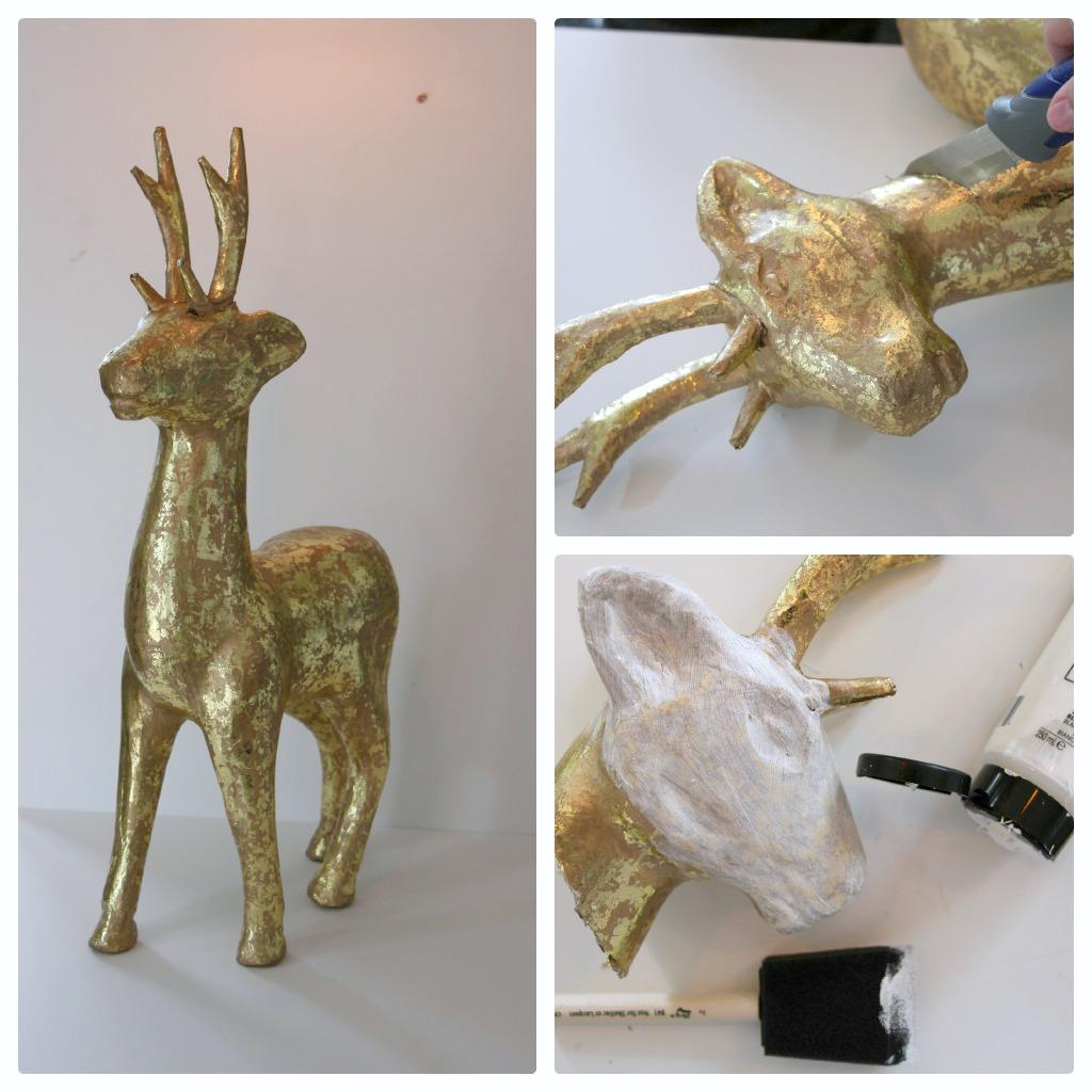 Little Pink Monster's tutorial on DIY deer mounts & polk dot rhinos!
