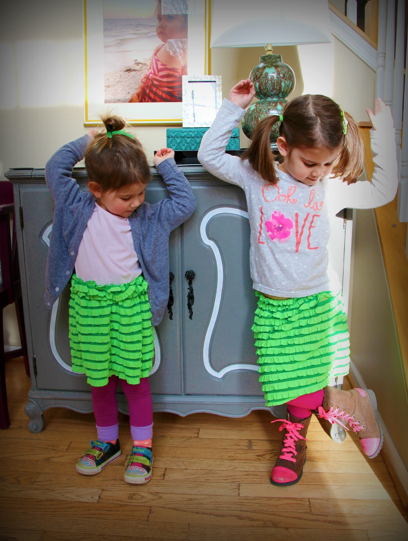 ruffled skirts made with pre-ruffled fabric:::Little Pink Monster