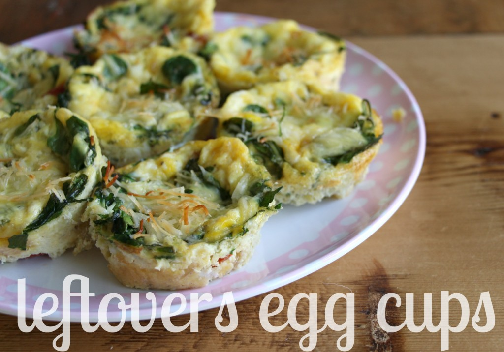 Little Pink Monster::Use your leftover like diced meats, sauteed onions & roasted veggies to make fantastic egg cups, it's a great grab-n-go breakfast!