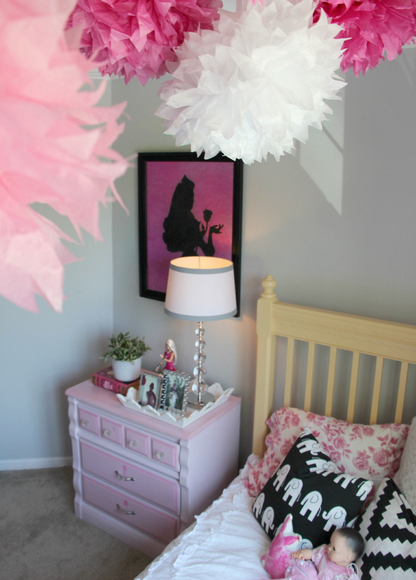 Little Pink Monster:: The Not-too-Princess Girly Girl's Bedroom Makeover