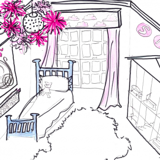 The not-too-princess girl's bedroom makeover!