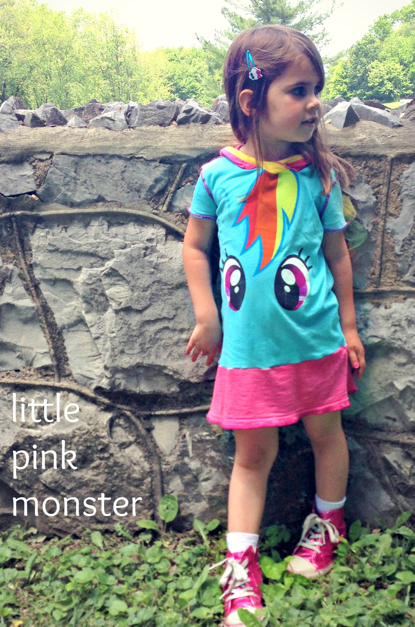 My Little Pony Rainbow Dash Dress w/Crazy Tulle Hooded Mane ::by Little Pink Monster