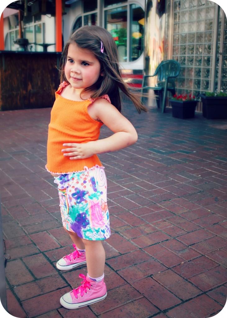 graffiti skirt tutorial by Little Pink Monster