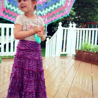 Children's Tiered Knit Maxi Skirt Tutorial