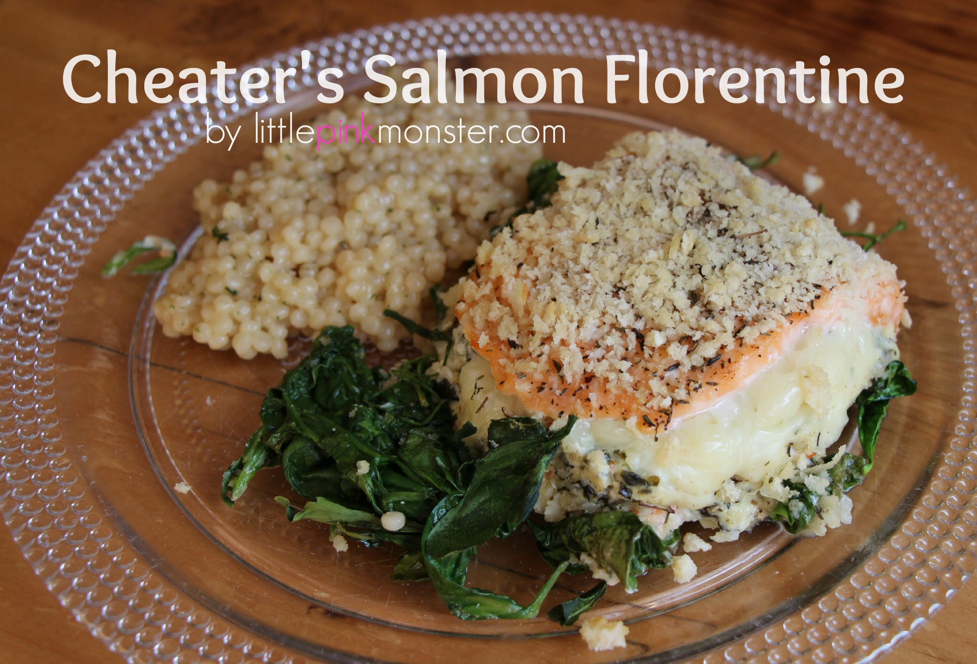 """Cheaters"" Salmon (or chicken) Florentine::by Little Pink Monster"