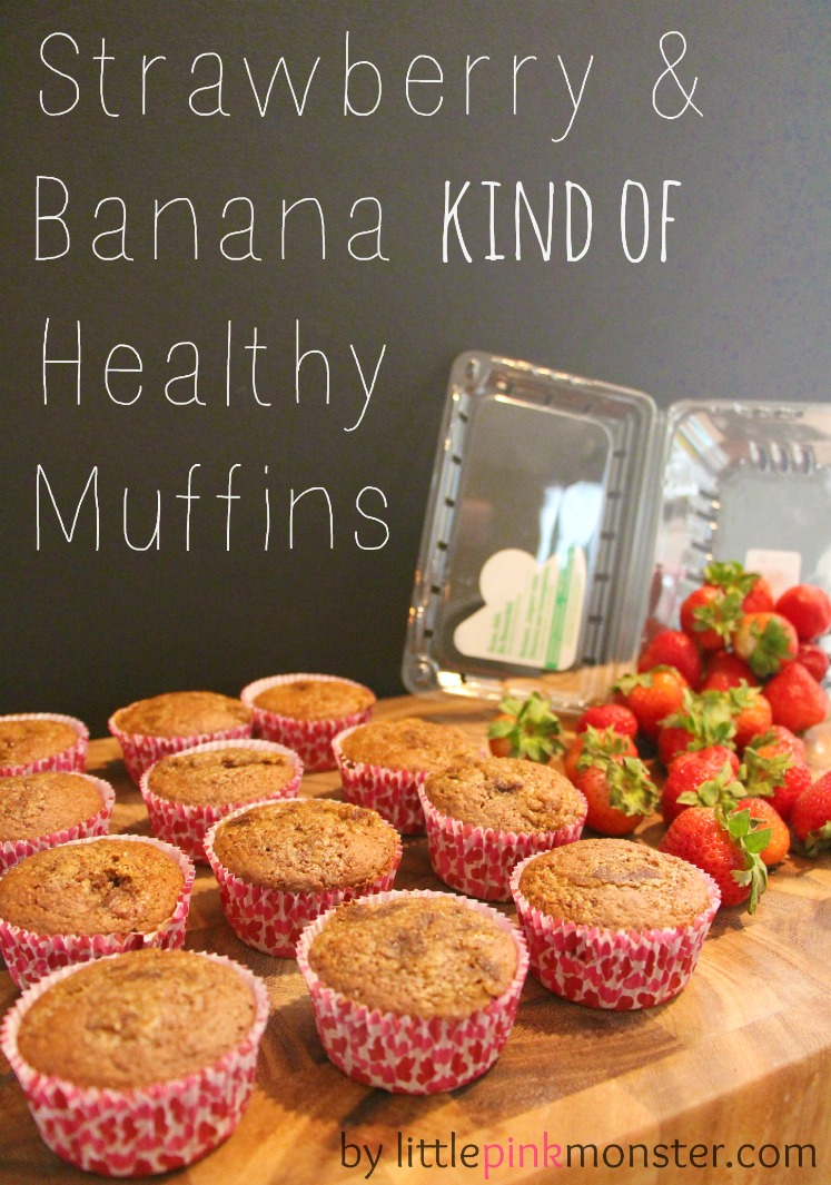 "Pick Your Own:: Strawberrry Banana ""Cupcake"" Muffins:: by Little Pink Monster"