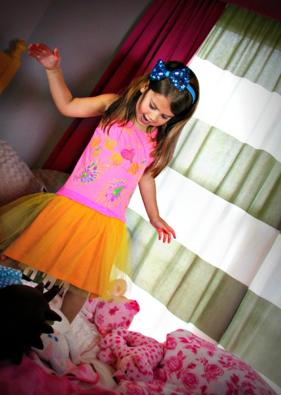 Totally Tulip Throwback Dress::Puffy Paint:: by Little Pink Monster