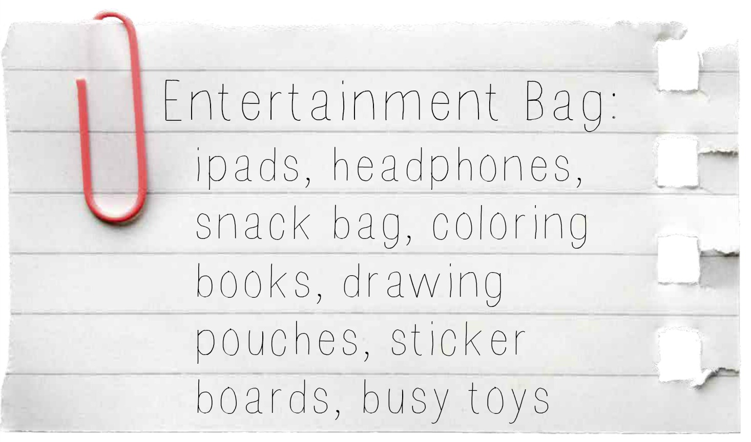 ENTERTAINMENT BAG from: how to travel with kids without LOSING YOUR MIND:: by Little Pink Monster