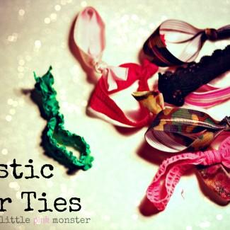 DIY Elastic Hair Ties