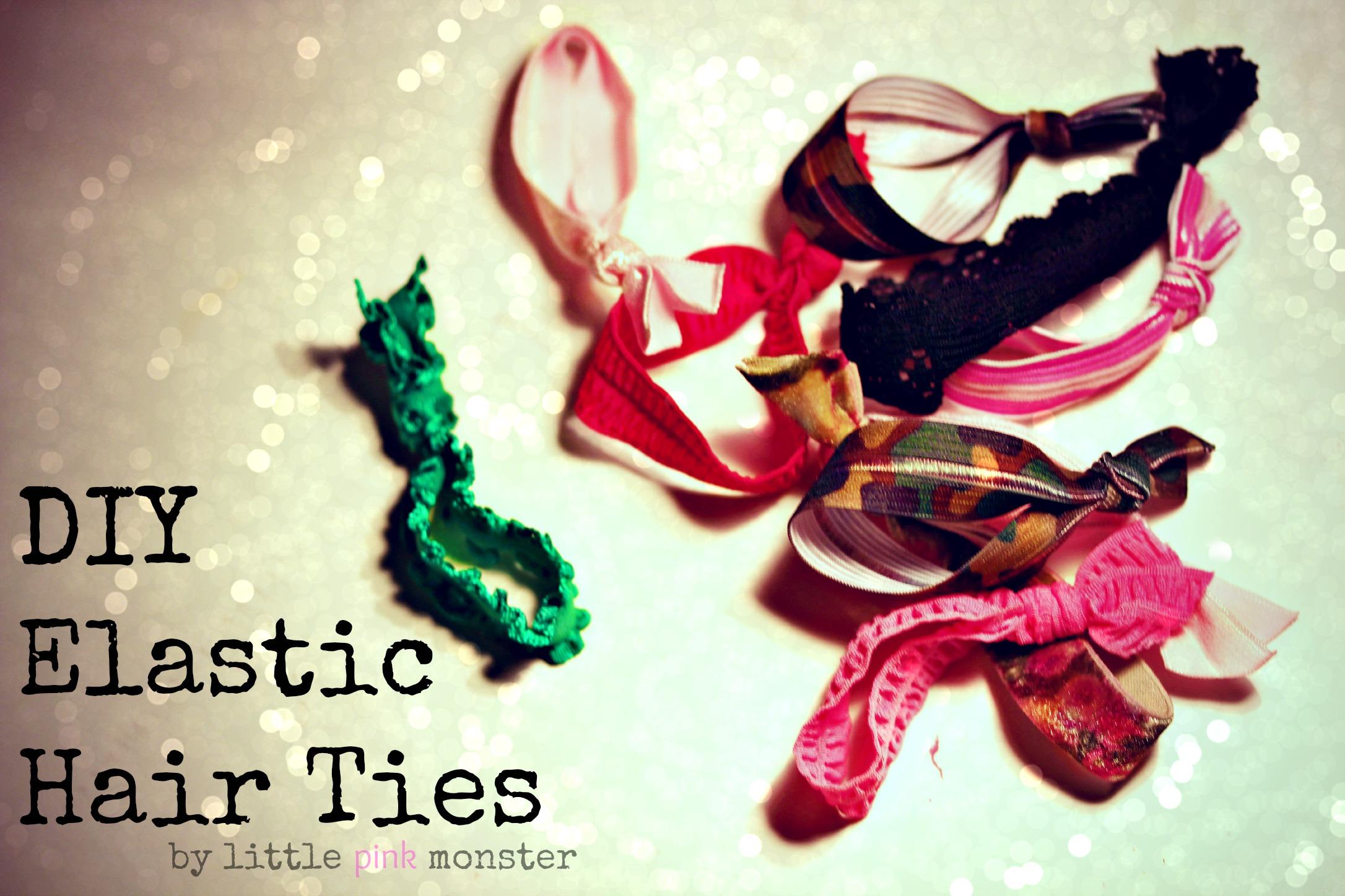 DIY Elastic Hair Ties:: by Little Pink Monster