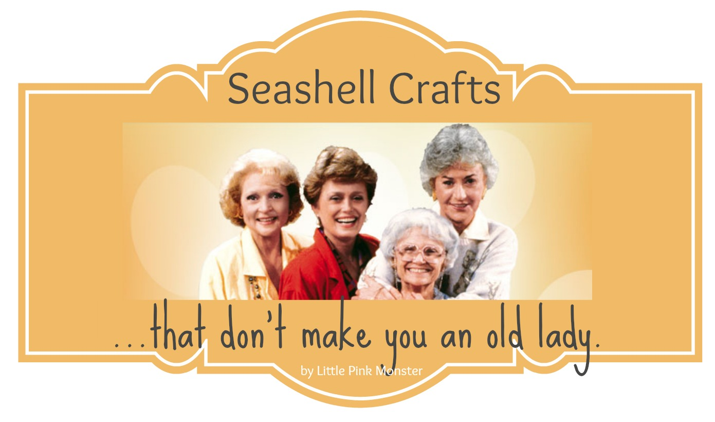 sea shell crafts that don't make you an old lady::by little pink monster