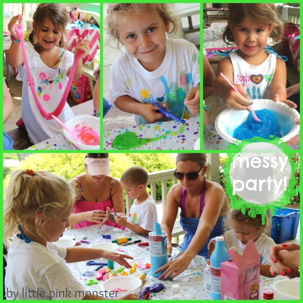 DIY Slime (Gak) for Messy Birthday Party :: Little Pink Monster