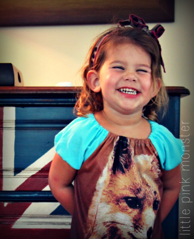 Foxy Girl DIY Tshirt Dress by Little Pink Monster