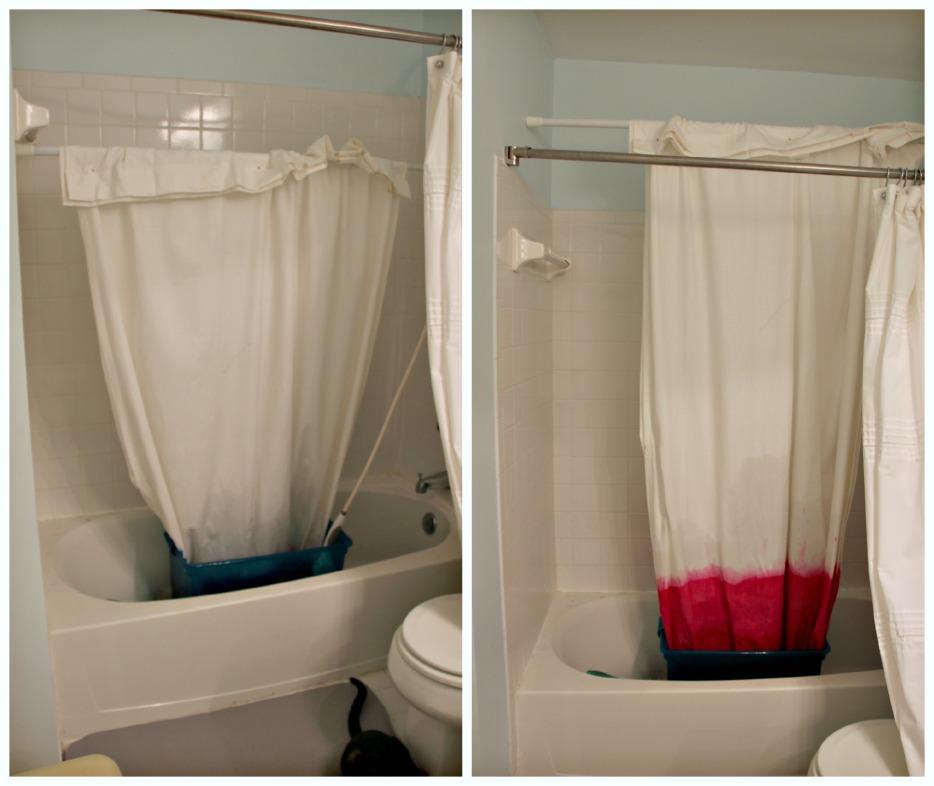 Diy Dip Dyed Ombre Window Panel Curtains By Little Pink Monster Nine Space Dip Dye Shower