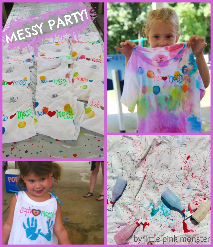 cover up personalized tshirts for a messy birthday party! :: by little pink monster
