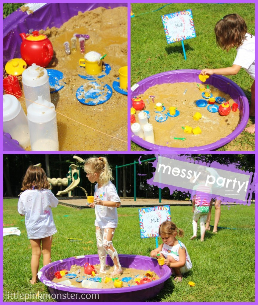 princess mud party:: messy party by little pink monster