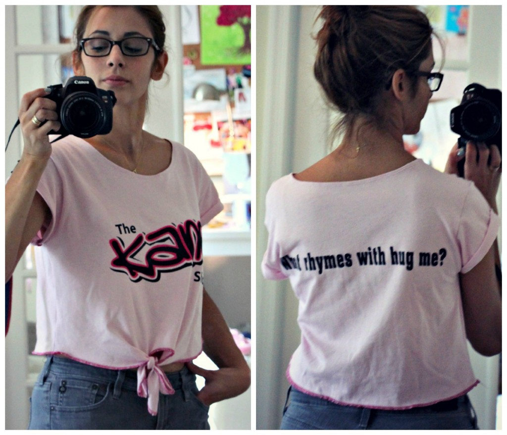 how to make a too big t shirt smaller cuter something