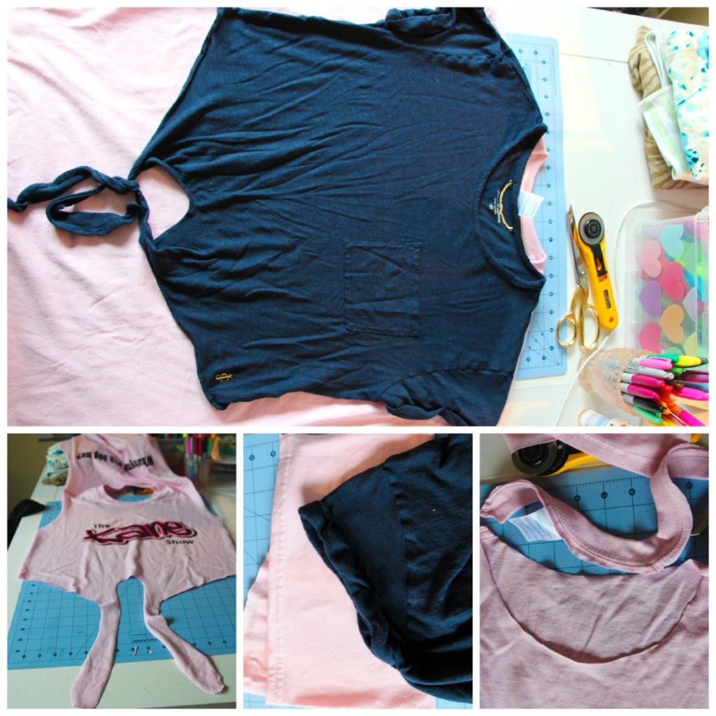 how to make a too big shirt smaller, cuter & something you'll actually wear! by Little Pink Monster