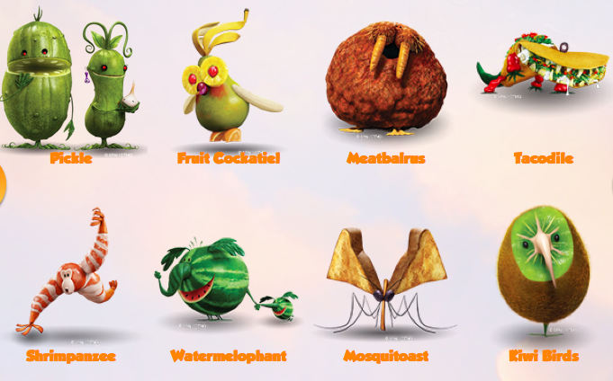 Cloudy with a Chance of Meatballs 2:: The Foodimals!