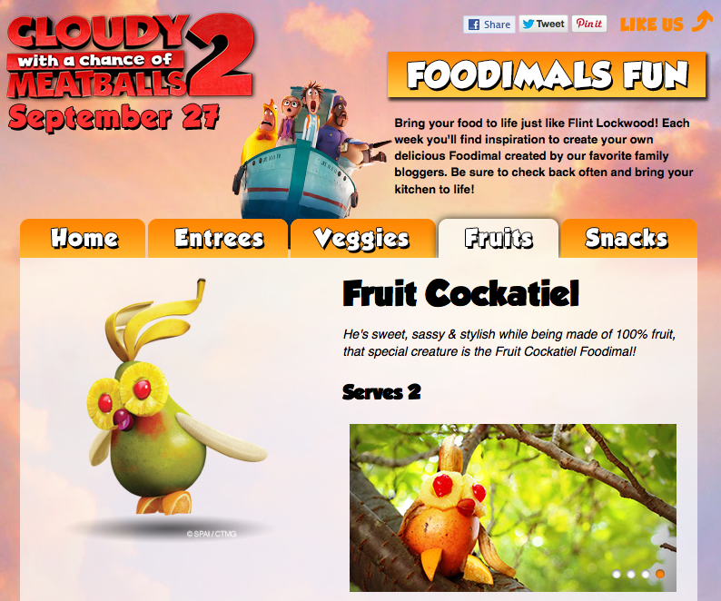 Cloudy with a Chance of Meatballs 2:: The Foodimals!:: Fruit Cockatiel by Little Pink Monster