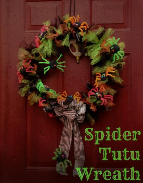 Spider Tutu Halloween Wreath:: by Little Pink Monster