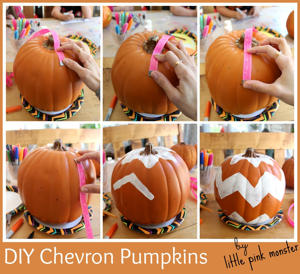 DIY Chevron Pumpkins By Little Pink Monster
