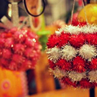 Little Pink Monster on Let's Talk Live- Homemade Christmas Ornaments