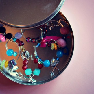 DIY Champagne (or wine) Glass Charms