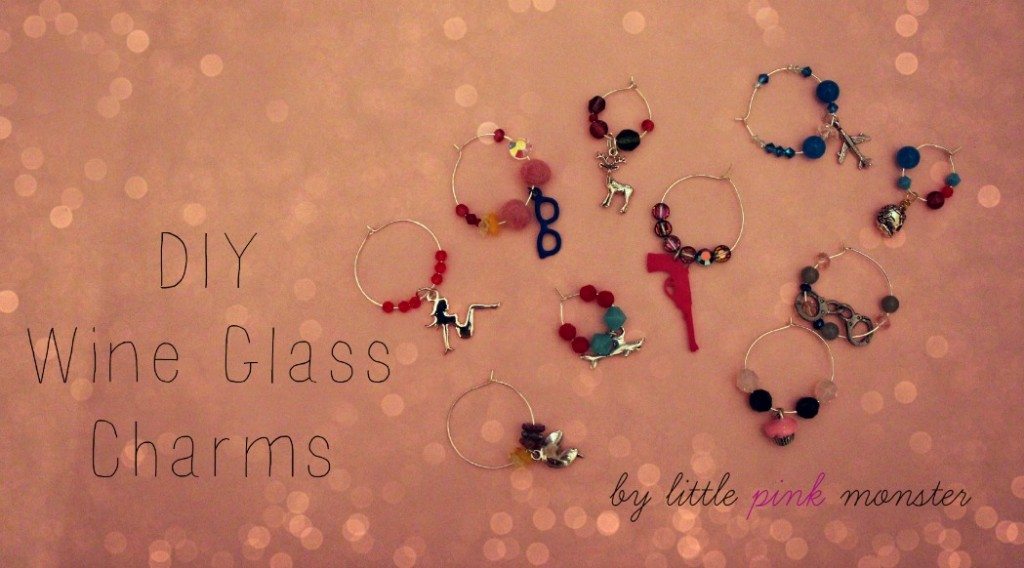 DIY Champange or Wine Glass Charms:: by little pink monster