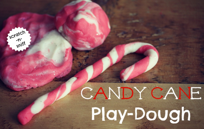 candy cane play-dough by little pink monster