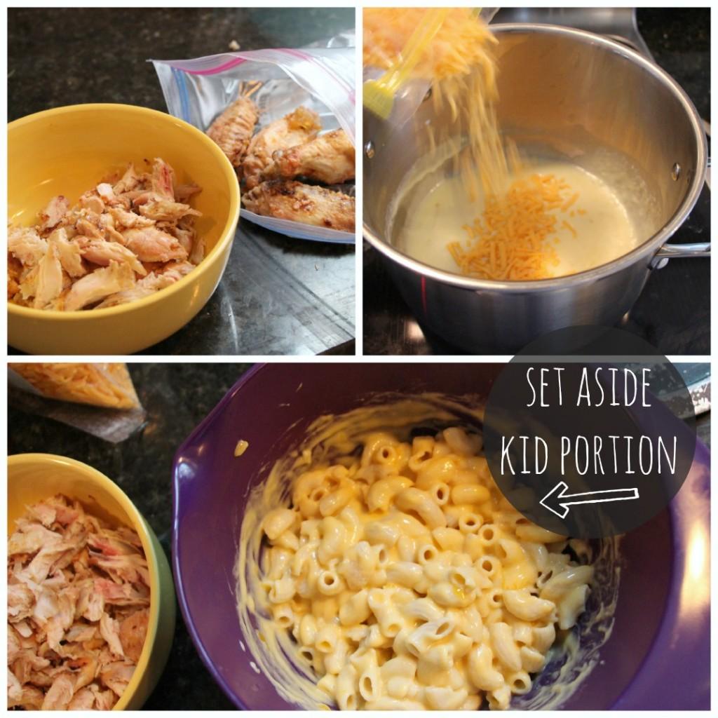 gluten free bbq macaroni & cheese (using leftover chicken!)