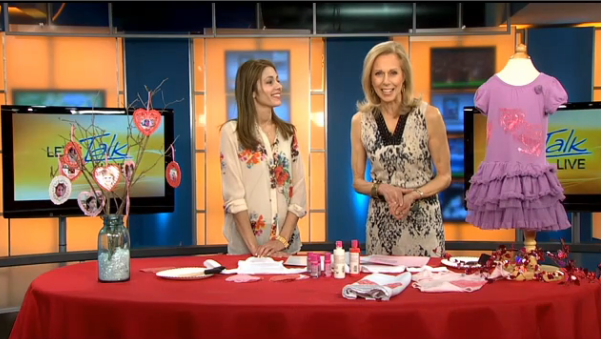 Valentines Crafting on Lets Talk Live