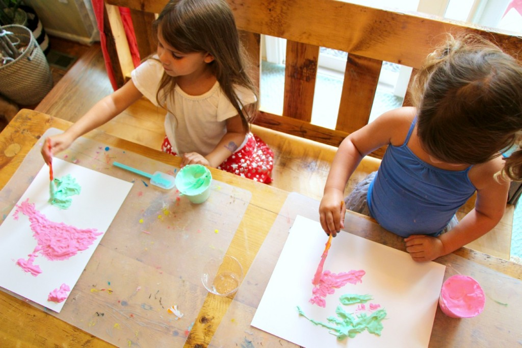 how to make your own diy puffy paint kid craft