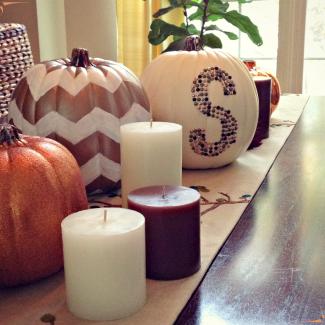 Monogrammed, Chevron & Glitter Pumpkins…Oh My!
